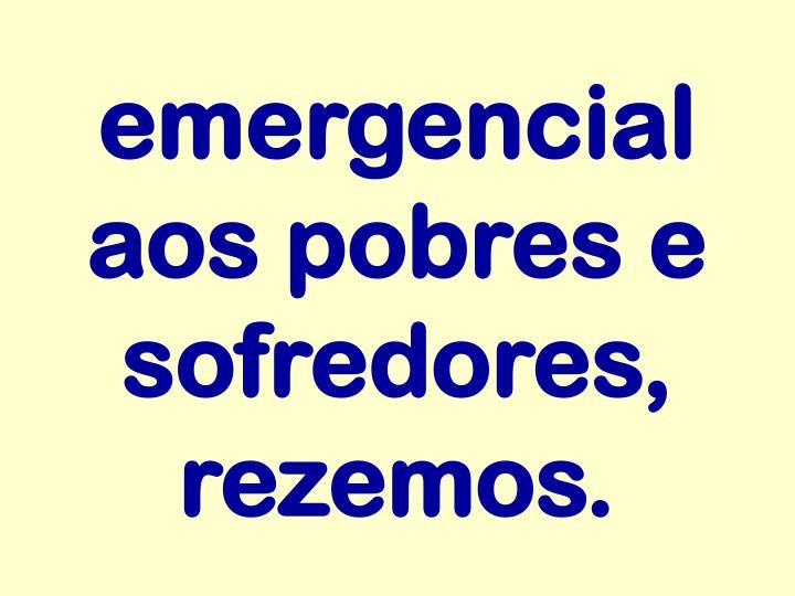 emergencial aos