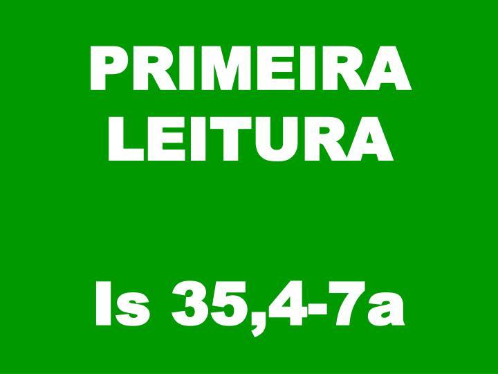 PRIMEIRA LEITURA