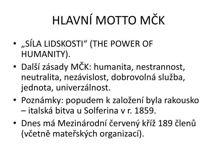 HLAVN MOTTO MK
