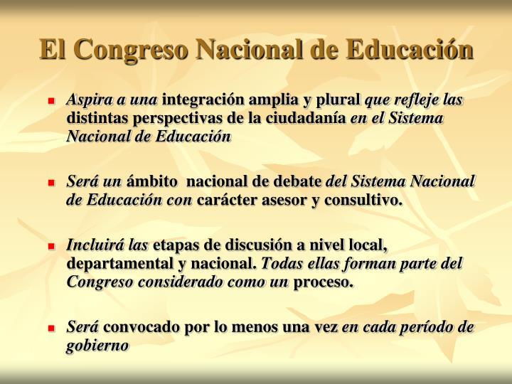 El Congreso Nacio