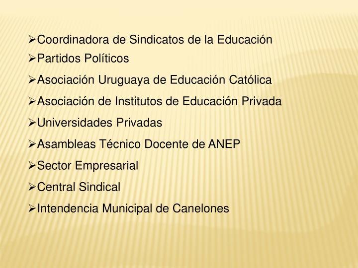 Coordinadora de Sindicatos de la Educación
