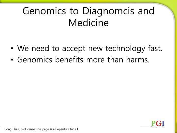 Genomics to