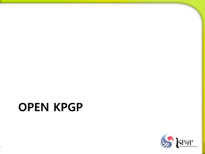 OPEN KPGP
