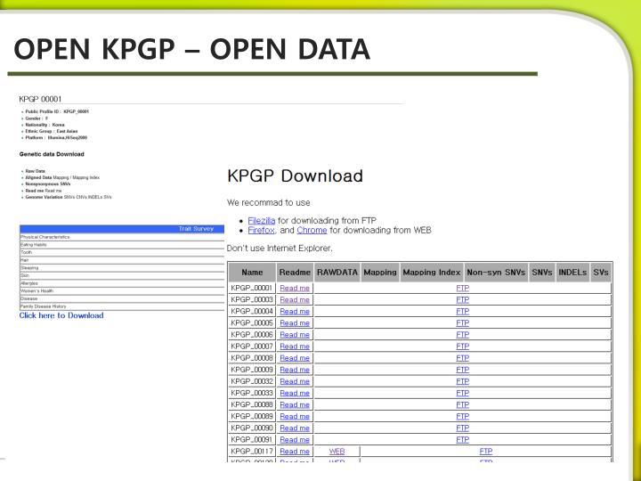 OPEN KPGP – OPEN DATA