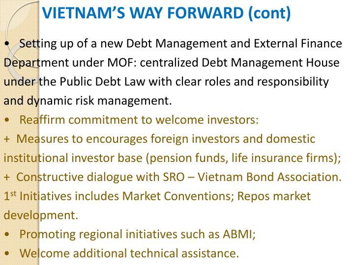 VIETNAM'S WAY FORWARD (cont)