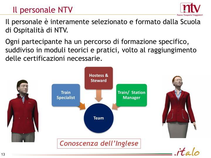 Il personale NTV
