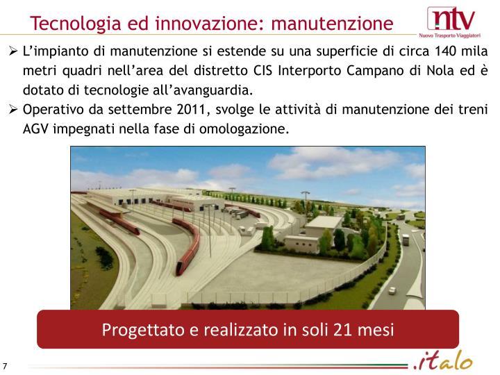 Tecnologia ed innovazione: manutenzione