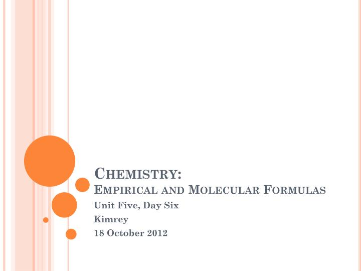 Chemistry empirical and molecular formulas