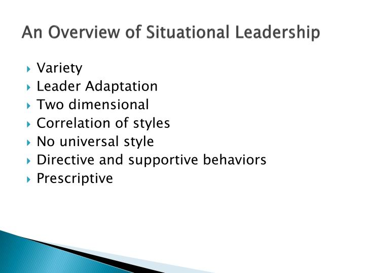 An Overview of Situational Leadership