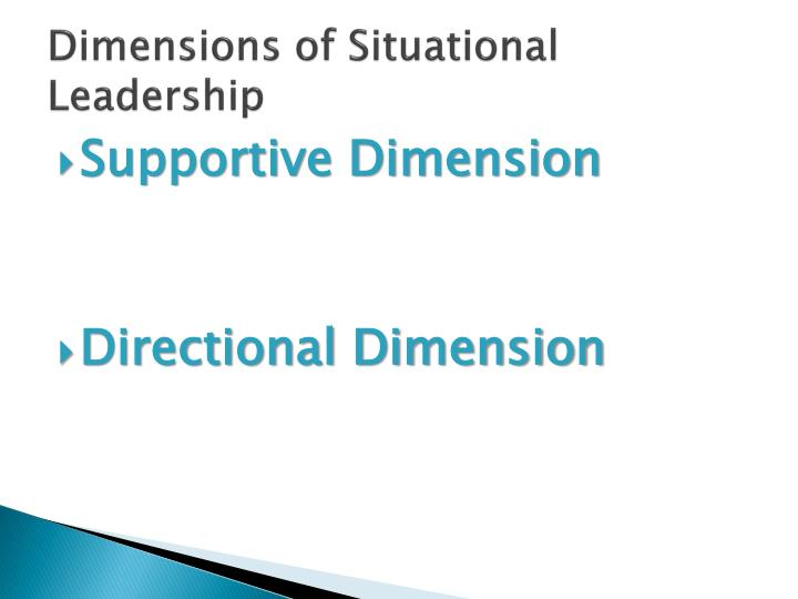 Dimensions of Situational Leadership