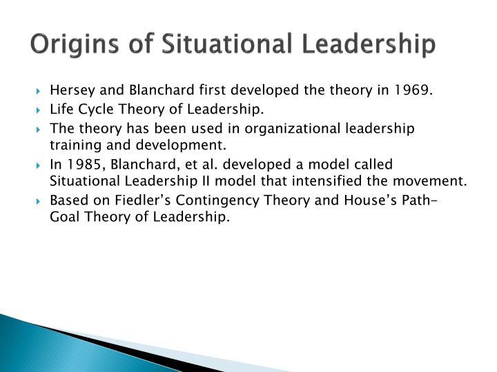 Origins of Situational Leadership
