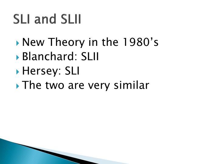 SLI and SLII