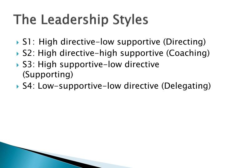 The Leadership Styles