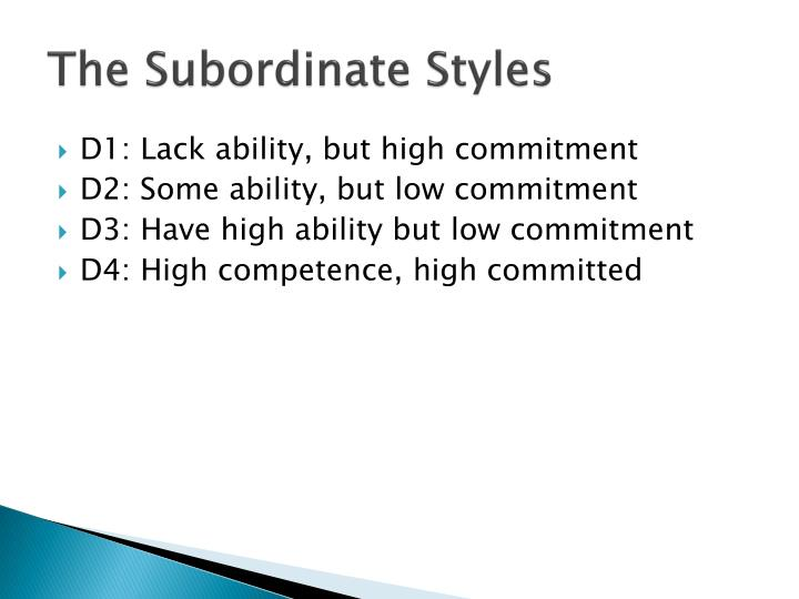 The Subordinate Styles