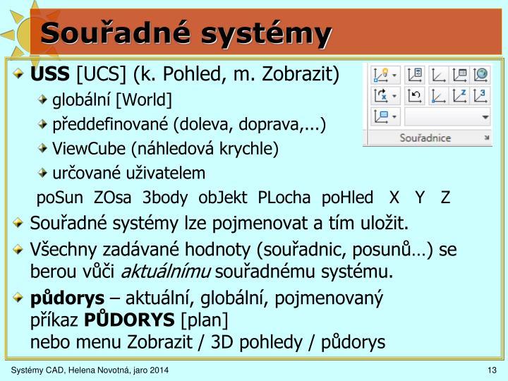 Souřadné systémy