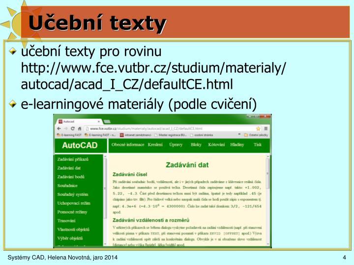 Učební texty