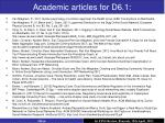 a cademic articles for d6 1