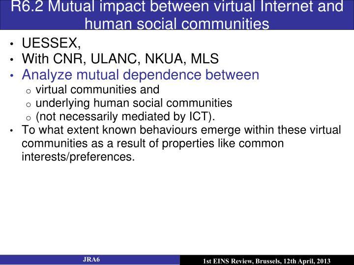 R6.2 Mutual impact between virtual Internet and human social communities