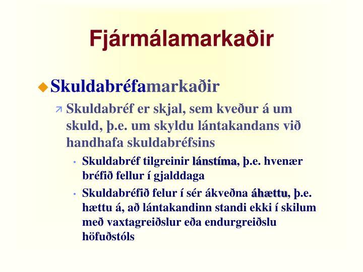 Fjármálamarkaðir