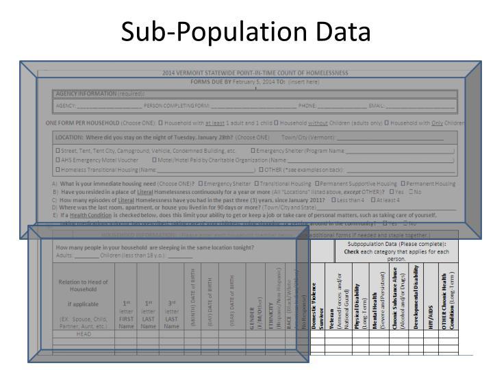 Sub-Population Data