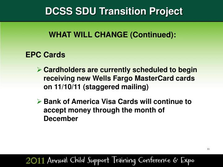PPT - DCSS SDU Transition Project PowerPoint Presentation ...