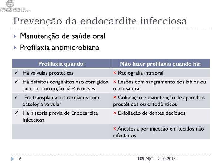 Prevenção da endocardite infecciosa