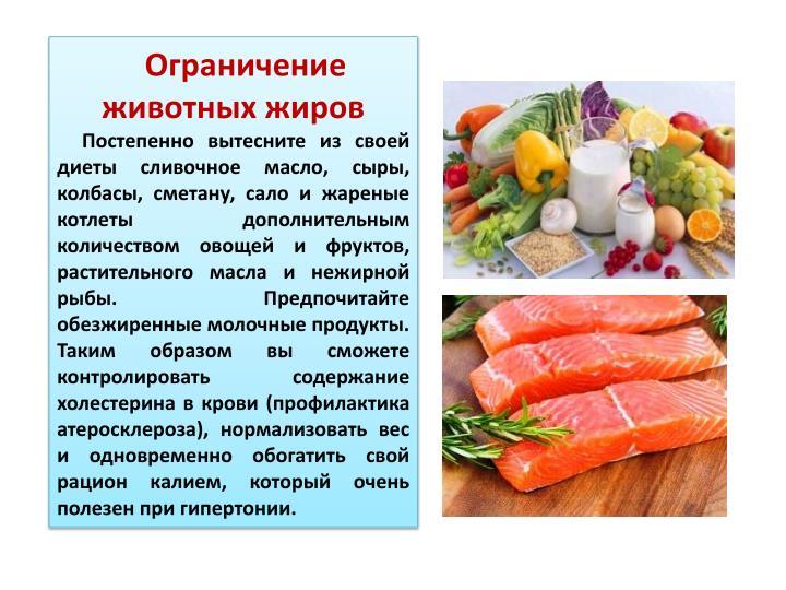 Ограничение животных жиров