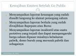 kewajiban emiten setelah go public1