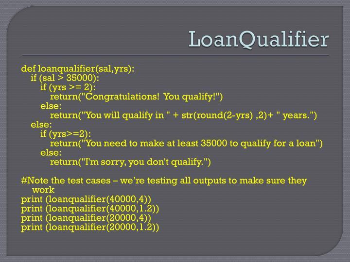 LoanQualifier