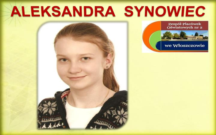 ALEKSANDRA  SYNOWIEC