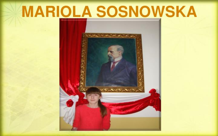 MARIOLA SOSNOWSKA