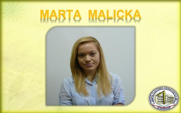 MARTA  MALICKA
