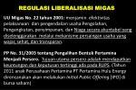 regulasi liberalisasi migas