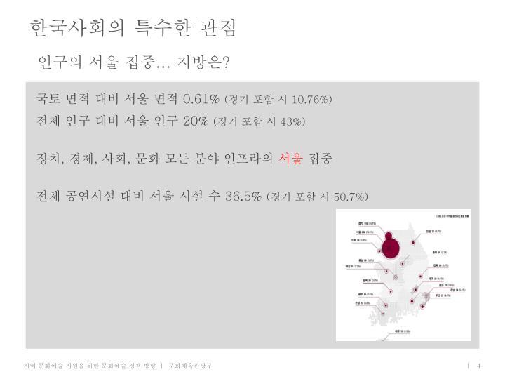 한국사회의 특수한 관점
