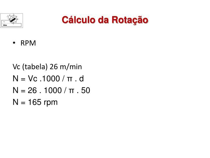 Cálculo da Rotação
