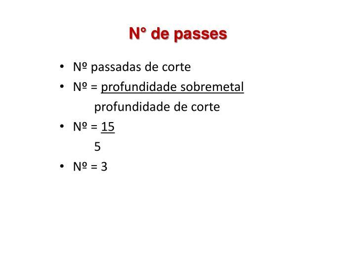 N° de passes