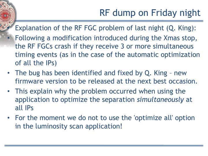Rf dump on friday night