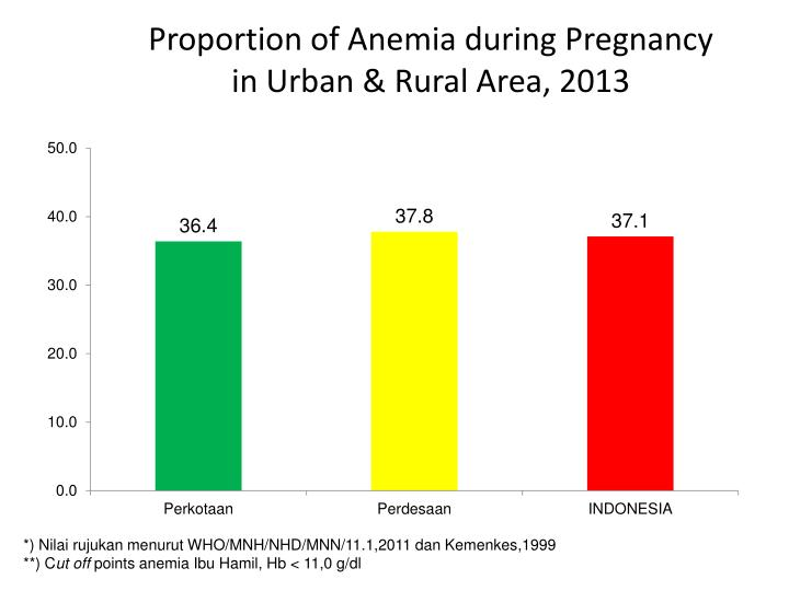 Proportion of Anemia during Pregnancy