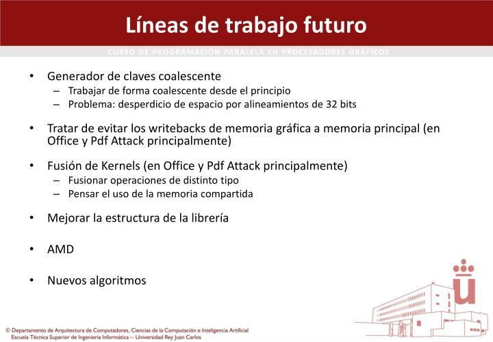 Líneas de trabajo futuro