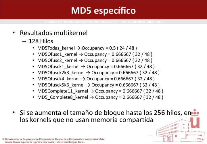 MD5 específico