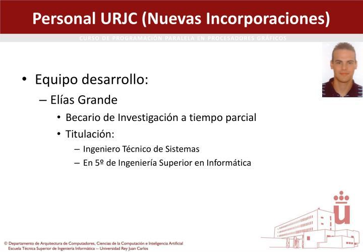 Personal URJC (Nuevas Incorporaciones)