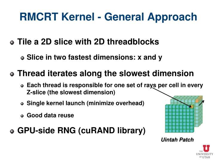 RMCRT Kernel - General Approach