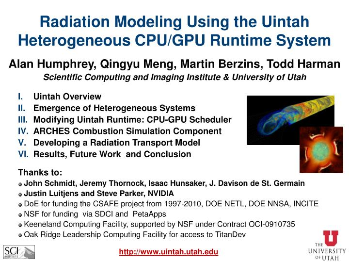 Radiation Modeling Using the Uintah Heterogeneous CPU/GPU Runtime System