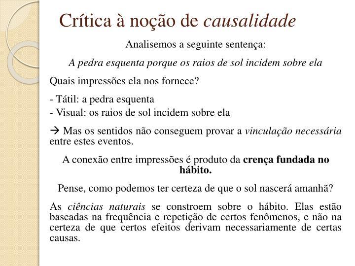 Crítica à noção de