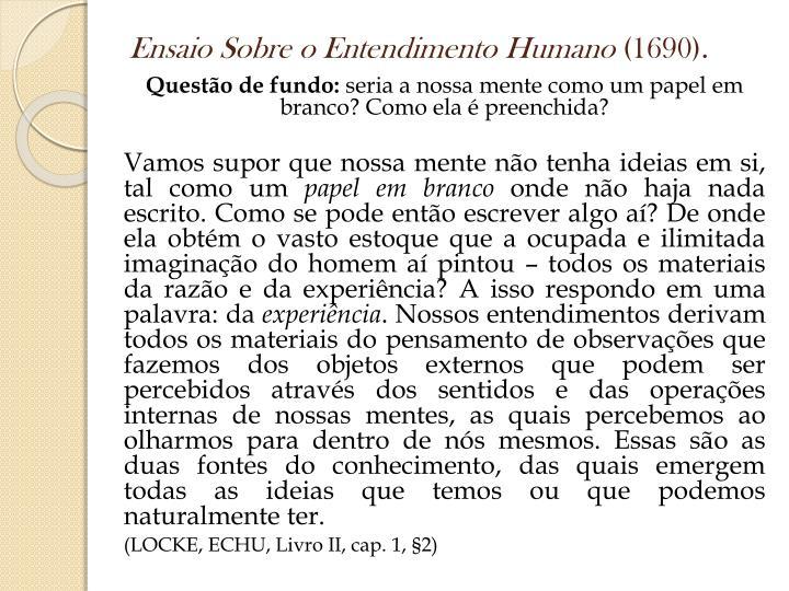 Ensaio Sobre o Entendimento Humano