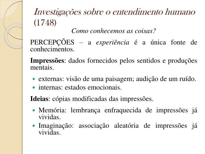 Investigações sobre o entendimento humano