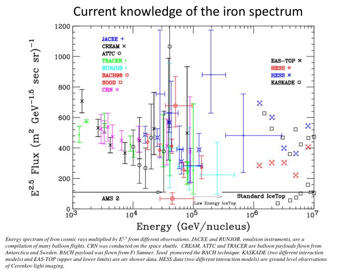 Current knowledge of the iron spectrum