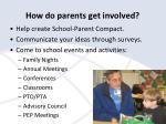 how do parents get involved