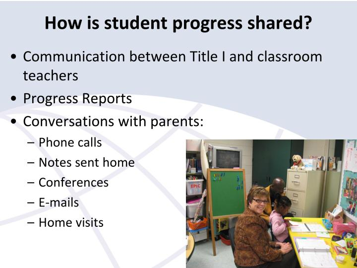 How is student progress shared?