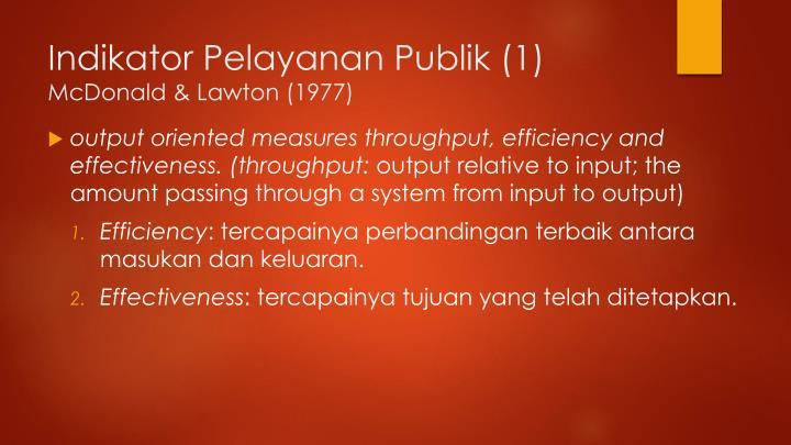 Indikator Pelayanan Publik (1)